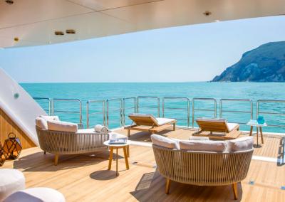 Yacht patio